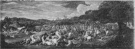 Sieg der Israeliten am Berg Horeb