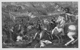 Herzog Ludwig IX. (der Reiche) von Bayern-Landshut siegt in der Schlacht bei Giengen 1462 über das kaiserliche Heer