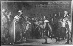 Herzog Albrecht III. (der Fromme) von Bayern schlägt 1440 die böhmische Königskrone aus