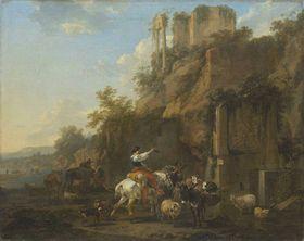 Felslandschaft mit antiken Ruinen