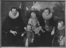 Bildnis einer Familie mit drei Kindern