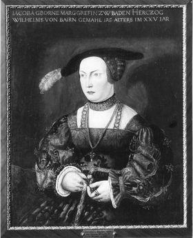 Maria Jakobäa, Gemahlin Herzog Wilhelms IV. von Bayern