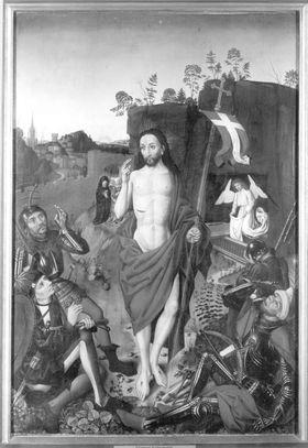 Angst-Altar: Auferstehung Christi (Rückseite: Dornenkrönung Christi)