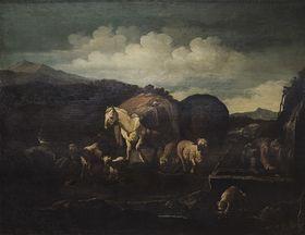 Karawane am Brunnen