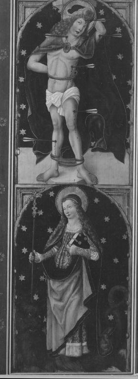 Aschaffenburger Triptychon: Die hll. Sebastian und Margaretha