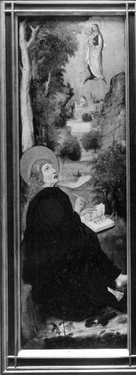 Aschaffenburger Triptychon: Johannes auf Patmos