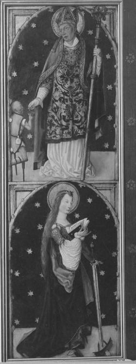 Aschaffenburger Triptychon: Hll. Martin und Katharina