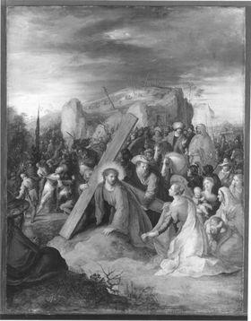 Die hl. Veronika reicht Christus das Schweißtuch