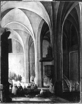 Abendmesse in einer gotischen Kirche
