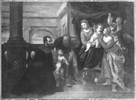 Heilige Familie mit hl. Magdalena und Stifter aus dem Hause Contarini