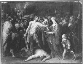 Salome empfängt das Haupt Johannes des Täufers