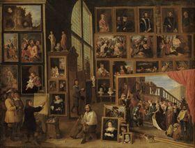 Ansicht der Galerie des Erzherzogs Leopold in Brüssel (I)