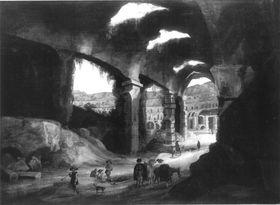 Innenansicht des Kolosseums in Rom
