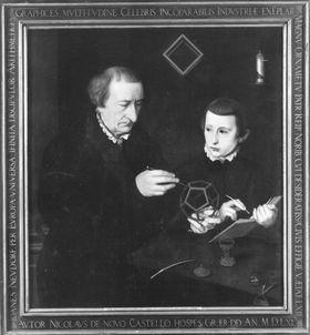 Bildnis des Nürnberger Schreibmeisters Johann Neudörfer und eines Schülers