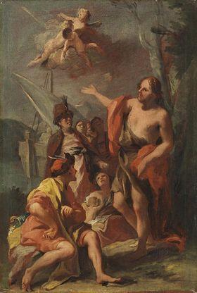 Hl. Johannes predigt in der Wüste