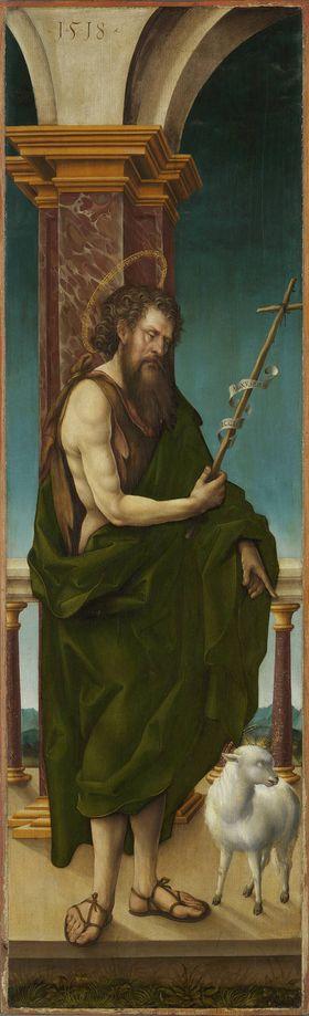 Johannesaltar, Flügelaußenseite: Hl. Johannes der Täufer