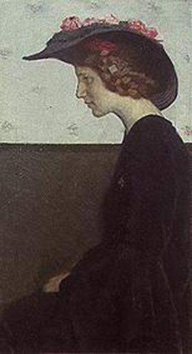 Mädchen mit Hut (Die Schauspielerin Else Sarto)