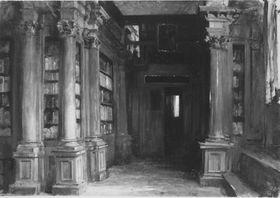 Bibliothek in der Scuola di San Rocco