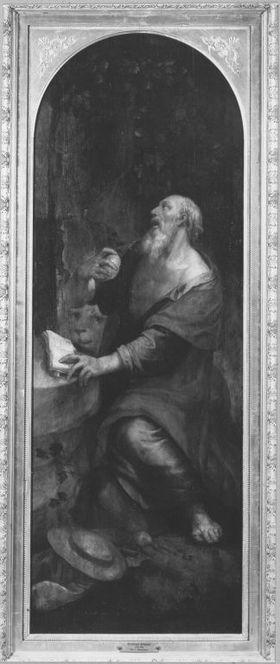 Marienaltar: Der hl. Hieronymus Rückseite: Engel der Verkündigung