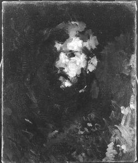 Bildnisstudie eines jungen bärtigen Mannes