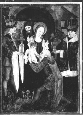 Anbetung der Könige  (Rückseite: Darbringung im Tempel)