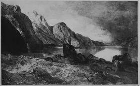 Der Königssee bei Berchtesgaden von Süden gesehen