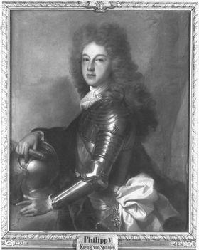 Bildnis des Philipp von Frankreich (1683-1746), seit 1700 als Philipp V. König von Spanien