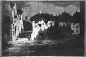 Spanisches Schloss im Mondenschein (Spanisches Castell im Mondlicht)