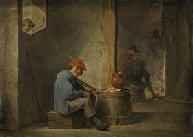 Musizierende Bauern