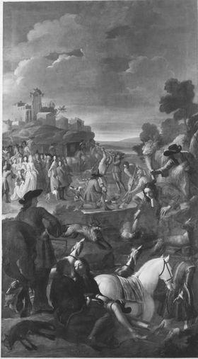 Kurfürst Max Emanuel mit Gefolge auf Fuchsjagd