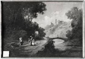 Landschaft mit Burg