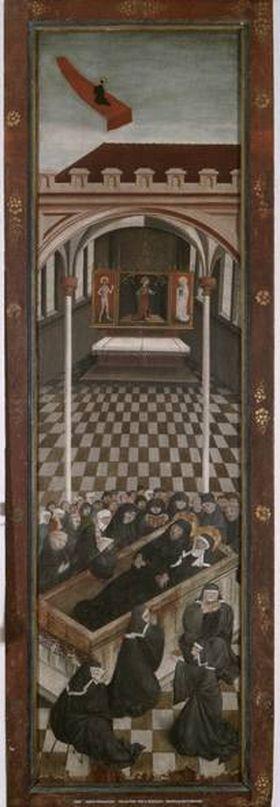Benediktsaltar: Begräbnis und Himmelfahrt des hl. Benedikt