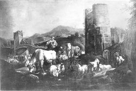 Heimkehrende Herde
