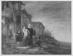 Abraham verstößt die Hagar und ihren Sohn Ismael
