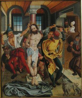 Geißelung Christi Rückseite: Verkündigung an Anna