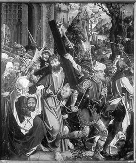 Kreuztragung Christi Rückseite: Reliefspuren