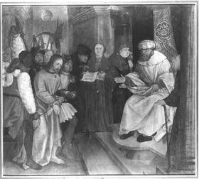Erster Wettenhauser Altar: Christus vor Pilatus Rückseite: Christus in der Vorhölle