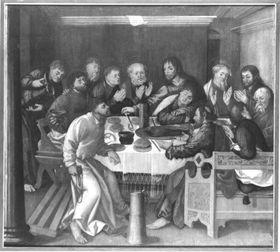 Erster Wettenhauser Altar: Das Letzte Abendmahl Rückseite: Kreuztragung Christi
