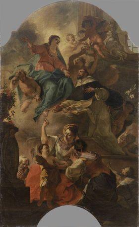 Hl. Dominikus als Fürbitter bei Maria
