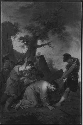 Christus fällt zum dritten Mal unter dem Kreuz