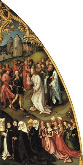 Epitaph der Schwestern Walther: Heilung des Besessenen