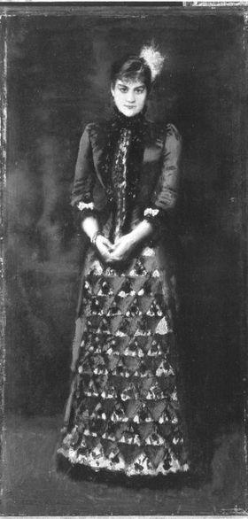 Irene von Keller, die Frau des Künstlers