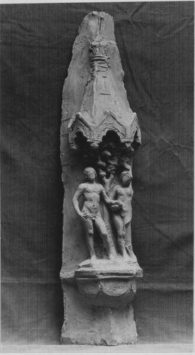 Adam und Eva (Bozzetto für eine Figurengruppe am geplanten Stadthaus in Worms)