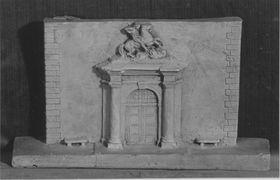 Modell für das Hauptportal des Anbaus an das Armeemuseum in München