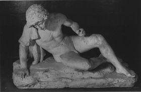 Narziss (Modell für die Figur in einer Grottenanlage im Park des Freiherrn Ferdinand von Stumm)