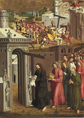 Flügel eines Kreuzaltares: Kaiser Heraklius trägt das Kreuz (Ehemals Rückseite: Inv.-Nr. 5367)