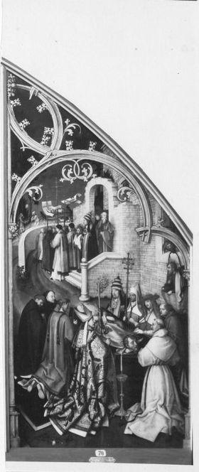 Basilika San Paolo fuori le mura, rechte Tafel: Exequien des hl. Paulus