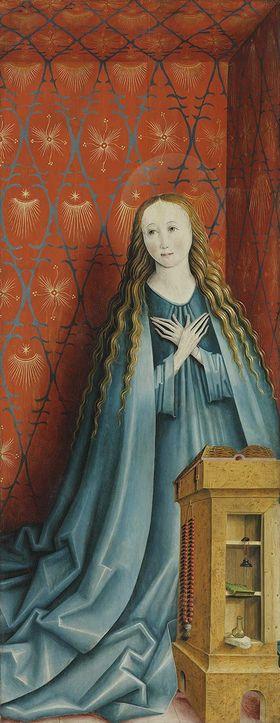 Rechter Flügel einer Verkündigung: Maria