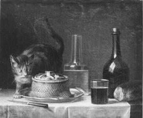 Stillleben mit Katze