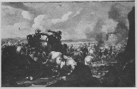 Gefecht vor einer Festungsmauer